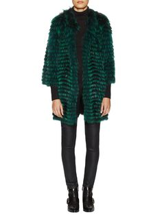 Striped Silver Fox Tall Jacket from Winter Trend: Look-At-Me Luxury on Gilt