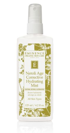 Find at #CHILLSpa   Editor's pick: Eminence Organic Neroli Age Corrective Hydrating Mist http://beautyeditor.ca/2013/02/21/editors-picks-5-new-makeup-faves-for-perfecting-your-complexion/