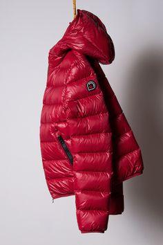 piumino red, light down jacket Goose Feel