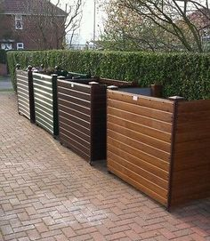 Picture 9 of 9 Wall Exterior, Exterior Colors, Outdoor Spaces, Outdoor Living, Outdoor Decor, Outdoor Landscaping, Outdoor Gardens, Hide Trash Cans, Trash Bins