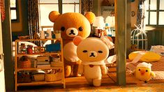 I'm watching Rilakkuma and Kaoru on netflix and it is literally the most peaceful and relaxing anime's I've seen in a long time. Rilakkuma Wallpaper, Movies And Series, Polymer Clay Animals, Polymer Clay Miniatures, Cute Gif, Stop Motion, Cute Stickers, Plushies, Anime Couples