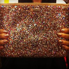 Kate Spade Glitter Clutch.....one of my favorite items