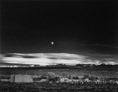 "Ansel Adams was the first photographer I really responded to. This is one my favorite prints of his - ""Moonrise, Hernandez, New Mexico, 1941."""