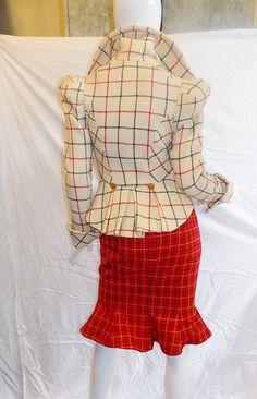 "Vivienne Westwood ""The Harris Tweed"" collection 3 pc corset suit Numbered RARE! 3"