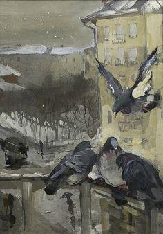 Мыслина Мария Владимировна (Россия, 1901-1974) часть II, акварели - «Впечатления дороже знаний...»