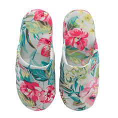 Tropical Garden Lawn Hotel Slippers   Nightwear   CathKidston