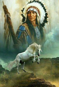 A Native American Indian boy wearing a feather standing next to a horse holding a spear with buffalo hide on it Native American Horses, Native American Warrior, Native American Paintings, Native American Pictures, Native American Quotes, Native American Beauty, Indian Pictures, American Indian Art, Native American History