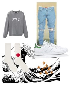 """""""TOKYO"""" by caidehenrye on Polyvore featuring A.P.C., Blue Blue Japan, adidas, men's fashion e menswear"""