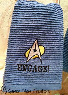 "Star Trek ""Engage"" Bathroom or Kitchen Towel"