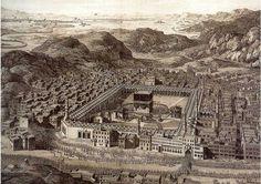 Old #mecca #Makkah #Madinah source of pic :- islamicport