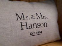 Mr and Mrs bridal shower gift Linen Pillows, Throw Pillows, Wedding Embroidery, Bridal Shower Gifts, Needle And Thread, Needlework, Tattoo Quotes, Wedding Gifts, Unique Gifts