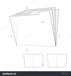 Folder With Die Cut Layout Stock Vector Illustration 193596059 : Shutterstock