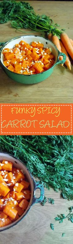 My grandma asked me this week to recommend a recipe to her (which in itself says something…) and I recommended this carrot salad. She was interested and asked for the ingredients; Spicy Carrots, Carrot Salad, Salads, Curry, Ethnic Recipes, Food, Carrot Slaw, Curries, Eten