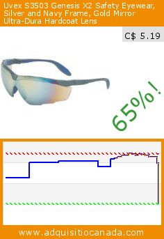 Uvex S3503 Genesis X2 Safety Eyewear, Silver and Navy Frame, Gold Mirror Ultra-Dura Hardcoat Lens (Tools & Hardware). Drop 65%! Current price C$ 5.19, the previous price was C$ 14.82. http://www.adquisitiocanada.com/uvex/uvex-s3503-genesis-x2