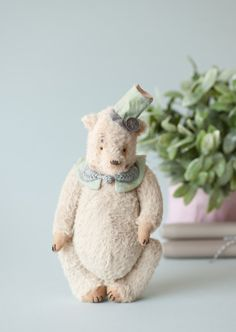 Christmas Teddy Bear Innokenty  Traditional Plush by annapavlovna, $299.00