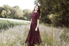 Aura Dress in Ember Wings Print - A/W