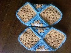 Granny Square Crochet Slippers – Crochet For Beginners Yarn Projects, Crochet Projects, Projects To Try, Knitting Patterns Free, Free Pattern, Granny Square Slippers, A Hook, Crochet Slippers, Ideas