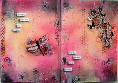 """Page 1 from my art journal ... """"experience is what you get, when you don't get what you want""""  #artjournal #artjournalspread"""