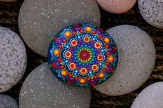 Hey, I found this really awesome Etsy listing at https://www.etsy.com/listing/583815122/28x26-inch-hand-painted-mandala-on-river