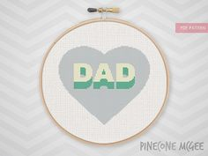 SUPER DAD counted cross stitch pattern, easy father's day gift, love daddy, papa, grandfather, fathers family point de croix chart, diy pdf