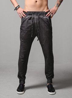 Lunar Washed Sweats Jogger $30.60 #men #fashion #style #street #pants #sweats #jogger #black #gray #dark #washed #jersey