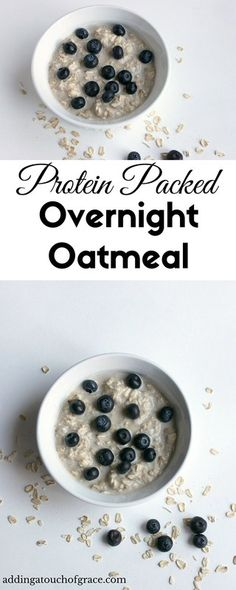This overnight oatmeal is full of protein to keep you full longer.