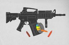 Child Soldier #retro #illustration #gun