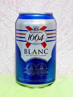 Empty Cans Of Ukrainian Beer Kronenbourg 1664 Blanc 330 ml. 2018 #Kronenbourg