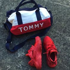 735754391 Any1 want to buy brand new mini Tommy Hilfiger duffle bag? Msg me Tommy  Hilfiger