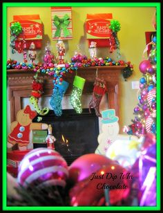 Bright Christmas Mantel