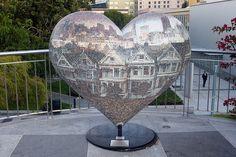 San Francisco - SoMa: Yerba Buena Gardens - Hearts in San Francisco - Painted Ladies We Love by wallyg, via Flickr