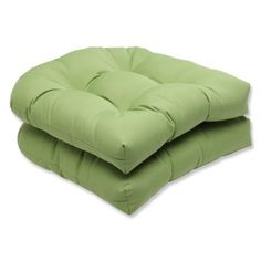 Outdoor Décor  Pillow Perfect Wicker Seat Cushion with Green Sunbrella Fabric, Set of 2 ** This is an Amazon Associate's Pin. Click the VISIT button to find out more from the website.