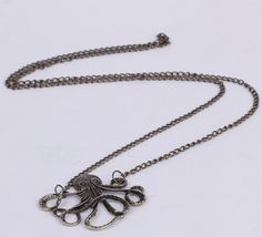 $0.54  35cm Octopus Golden Sweater Chain Necklace Jewelry Vintage Charms