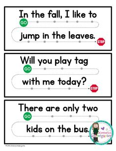 Concepts of Print is SO important to teach! This packet helps children work on their one-on-one correspondence, and letter and sentence discrimination.
