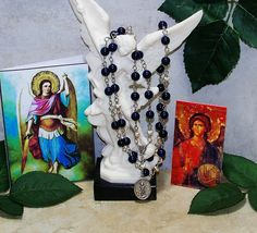 Unbreakable Catholic Relic Chaplet of St. Michael, the Archangel - Patron of Soldiers, Police, Firefighters, EMTs, Grocers, Bankers, Artists by foodforthesoul on Etsy