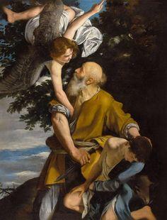 Orazio Gentileschi's 'Abraham and Isaac'. Orazio Gentileschi, Artemisia Gentileschi, Christian World, Christian Art, Baroque, Rococo, Story Of Abraham, Abraham And Sarah, Joseph