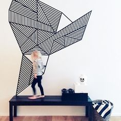 DIY Washi Tape Mural (via Land of Nod)