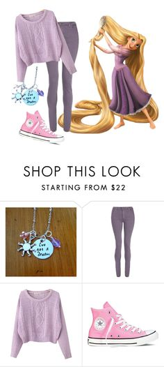 """""""Rapunzel"""" by madalynkw on Polyvore featuring dVb Victoria Beckham, Chicnova Fashion and Converse"""