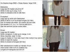 Modifisert Skappel-genser str XS/S Er 5, Knit Fashion, How To Plan, How To Make, Knitting Patterns, Knit Crochet, Diy And Crafts, Diy Projects, Sweater
