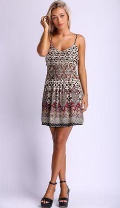 Power Rift Dress in Cream $39.99 http://www.popcherry.com.au/new-arrivals/