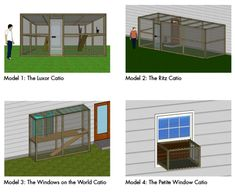 Catios! Outdoor cat enclosures and tunnels. #catlady Awesome!