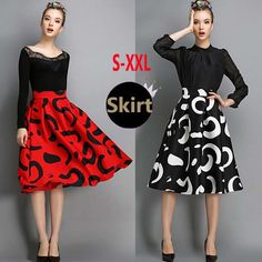 Buy now 2015 Spring Fashion Womens Vintage Retro Prints Hepburn Contrast Color High Waist A-Line Knee-Length Midi Skirts Ball Gown just only $17.28 with free shipping worldwide  #womanskirts Plese click on picture to see our special price for you