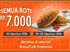 Promo Semua Roti BreadTalk Rp 7000