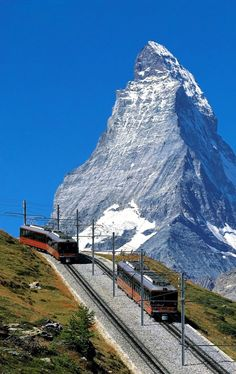 Matterhorn peak (Alps), Switzerland                                                                                                                                                     More