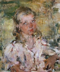 .:. Nikolai Ivanovich Fechin (1881-1955) - Girl.Etude (1910 )