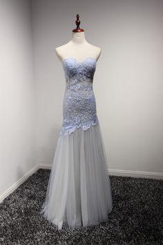 Charisma Dress Women's Sexy Mermaid Sweet-heart Lace Organza Prom Dresses