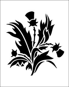 Thistle stencils from The Stencil Library. Stencil catalogue quick view page 1.
