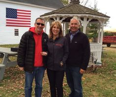 Bill DeRosa, Karyn Polito & Michael Smolak at Charlie Bakery Fund Raiser at Smolak Farms.