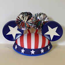 Disney Parks Authentic Mickey Mouse Ear Hat 4th Of July Fireworks Patriotic USA