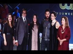 Amitabh Bachchan, Deepika Padukone & Kajol at Yuvraj Singh's You We Can fashion label launch.